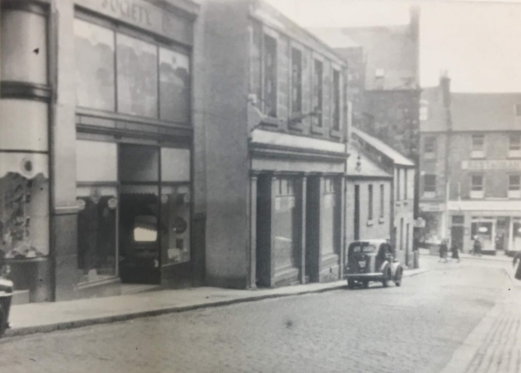 Photo from 1957 showing Dunfermline Cooperative Society Central premises on Randolph Street