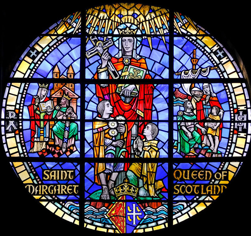 Stained glass window depicting Saint Margaret Queen of Scotland