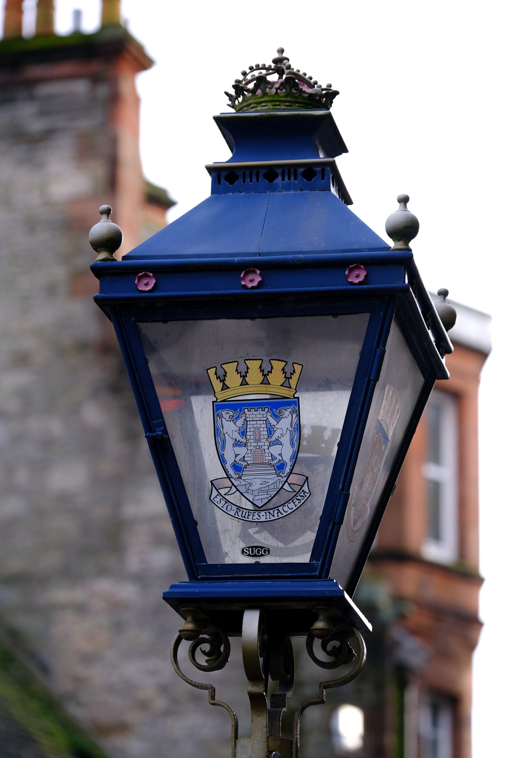 Lampost lamp cover with logo for Dunfermline town